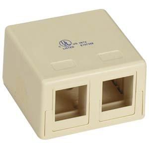 InstallerParts 2 Port RJ45 Surface Mount Box Ivory (Box (Blank Patch Panel 8 Port)