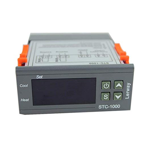 Lerway 110V All-Purpose STC-1000 Dual Stage Digital Temperature Controller Thermostat with Sensor