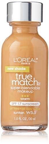 L'Oreal Paris Makeup True Match Super-Blendable Liquid Foundation, Suntan W5.5, 1 fl. ()
