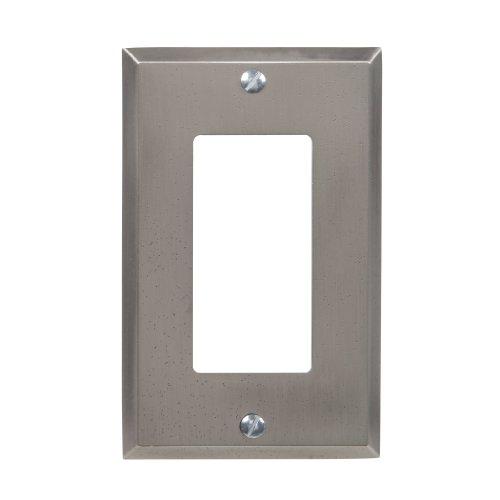 Decor Switchplate - Amerelle 68RGM Manhattan 1 Rocker-GFCI Wallplate, Gun Metal Gray