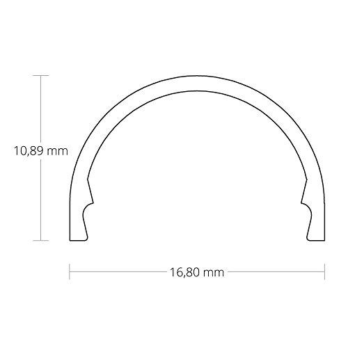 PL5 megrez C5 - Perfil de aluminio F. tira LED 2 m + ópalo (Negro, Blanco o aluminio color) + tapas, PL5 C5 Abdeckung weiß, 2G10: Amazon.es: Iluminación