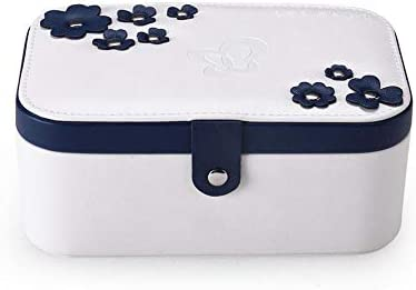 Womdee Small Leather Travel Jewellery Box, Four-Leaf Clover Jewelry