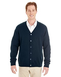 Harriton Mens Pilbloc V-Neck Button Cardigan Sweater (M425) -DARK NAVY -XL -