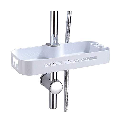 G-Tree ABS Shower Caddy Organizer Shelf - Bathroom Rail Organizer Holder for Shampoo, Adjustable Bathroom Shower Riser Holder Organizer for Diameter 22,24,25mm Rail ()