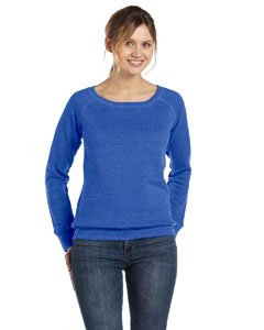 Bella 7501 Womens Sponge Fleece Wide Neck Sweatshirt - True Royal, (Wide Waistband Jumper)