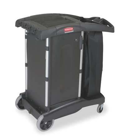 Housekeeping Cart, Black, Structural Web by Rubbermaid