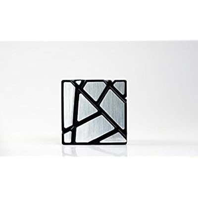 cuberspeed Fangcun Ghost 3x3 Black Magic Cube 3x3 Ghost 3x3x3 Speed Cube Silver Sticker: Toys & Games