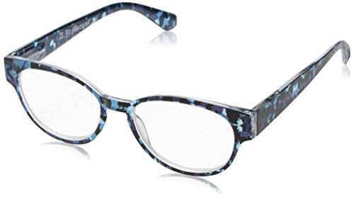 A.J. Morgan Women's Popular - Power 2.50 54255 Cateye Reading Glasses, BLUE MULTI, - Popular Reading Glasses