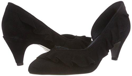 Mentor Punta Zapatos Schwarz Pump black Con Cerrada De Mujer Tacón Para rqrCxwfAnS