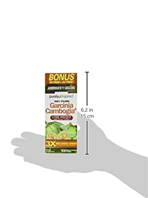 "Purely Inspired 100% Garcinia Cambogia Fruit Extract, ""1600mg GARCINIA CAMBOGIA"" (Brindlerberry) 100 Caps"