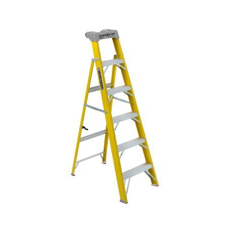 Louisville Ladder W-3116-06 6 ft. Fiberglass 2-in-1 Cross Step Ladder, Type I, 250 Lbs Load Capacity by Louisville Ladder