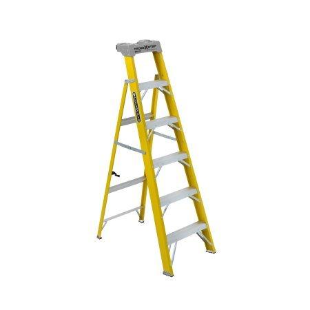 Louisville Ladder W-3116-06 6 ft. Fiberglass 2-in-1 Cross Step Ladder, Type I, 250 Lbs Load Capacity by Louisville Ladder (Image #1)
