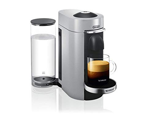 NESPRESSO VERTUOPLUS DELUXE COFFEE AND ESPRESSO MACHINE BY DE'LONGHI, SILVER - ENV155S ()