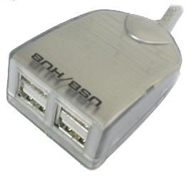 Adesso 4-Port Bus Powered USB 1.1 Mini Titanium Hub (AUH-103)