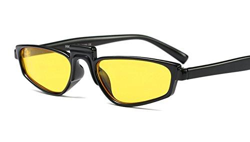 Freckles Mark Super Skinny Thin Narrow Plastic Geometric Small Sunglasses (Yellow, - Yellow Sunglasses Rihanna