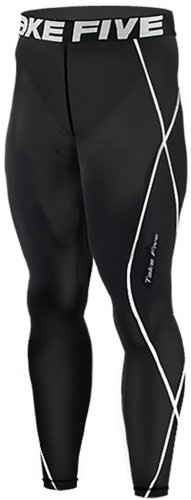 New 011 Take Five Skin Tights Compression Leggings Base Layer Black Running Pants Mens S - 3xl