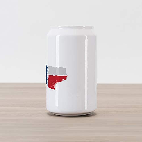 Lunarable Texas Cola Can Shape Piggy Bank, Distressed State Outlines Fort Worth Austin Borders Flag Design The Lone Star, Ceramic Cola Shaped Coin Box Money Bank for Cash Saving, Dark Blue Red Grey (In Austin Patio Best)