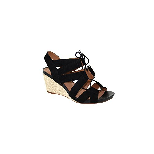 Suede Chester Women's Clarks Black Wedge Strappy Acina qvRYwzg