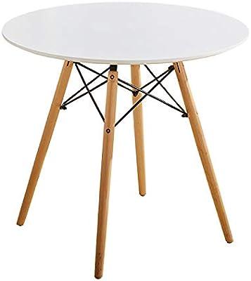 ELLEXIR Mesa de Comedor Redonda Mesa de diseño Eiffel 80 cm Ocio ...