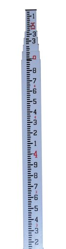 CST/berger 06-925 MeasureMark 25-Foot Fiberglass Grade Rod in Feet, Tenths and Hundredths