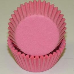 CakeSupplyShop Light Pink Solid Colored Mini Cupcake Liners - Baking Cups -250pack with Edible Sparkle Flakes
