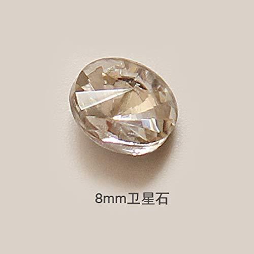 Nail Art Jewelry Super Flash Pointy Silver White Diamond Heart Shaped Diamond Bridal A White Diamond,8mm white satellite stone/single