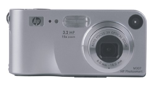 HP Photosmart M307 3MP Digital Camera with 3x Optical Zoom (512 Mb Mmc Multimedia)
