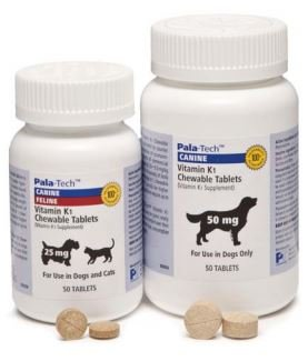 Pala-Tech Vitamin K1 Chewable Tablets For Dogs, 50 mg, 50 Tablets
