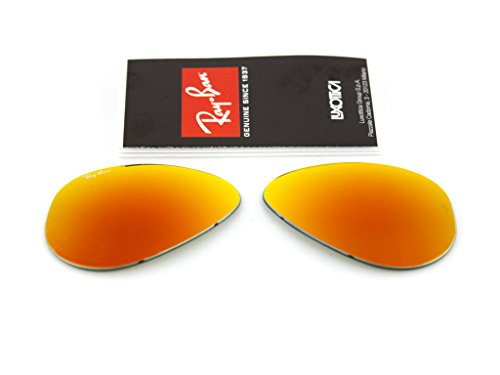 Lentilles de rechange Ray Ban 3025 Aviator large Metal (drop) ORIGINALES miroir orange