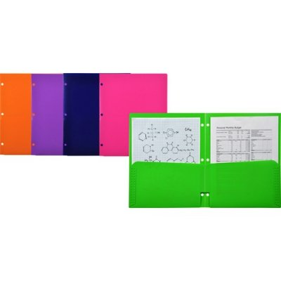 LIO91000ASCT - Lion Office Products, Inc 2-Pocket Plastic Folder for Binder by Lion Office Products, Inc