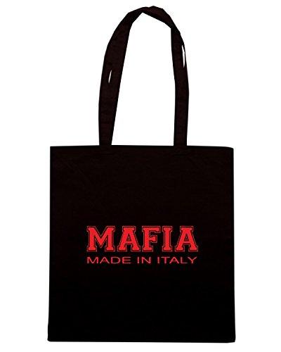 T-Shirtshock - Bolsa para la compra OLDENG00573 mafia made in italy Negro