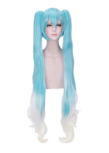 Miku Hatsune Cosplay Costume (DAZCOS Snow Miku Hatsune Lolita Princess Cosplay Wig 120cm (Blue mix White))