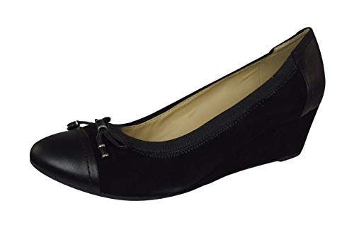 - Geox D Floralie A Womens Slip on Suede Shoes/Pumps-Black-8.5