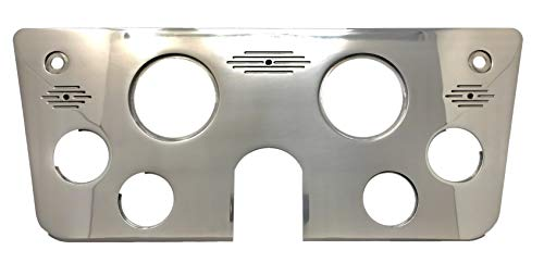 Dolphin Gauges 1967 1968 1969 1970 1971 1972 Chevy Truck (6) Hole Gauge Dash Insert Polished Billet Aluminum
