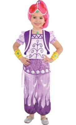 Amscan Shimmer and Shine Halloween Costume for Toddler Girls, Shimmer, 3-4T, with Included -