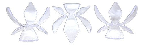 Tripar 2 1/8'' Clear Tulip Acrylic Display Stand - Set of 3