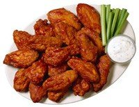 Hot & Spicy Chicken Buffalo Wings w/Blue Cheese 16pc