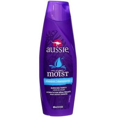 (Aussie Mega Moist Shampoo 13.50 oz (Pack of 3))
