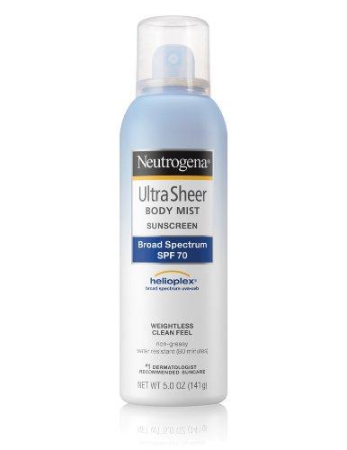 Neutrogena Ultra Sheer Sunscreen Body Mist, SPF 70, 5 Ounce
