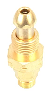 Forney 87810 Acetylene Regulator Adaptor, CGA 510 To CGA 200, #4 Tank to Regulator, 125-CF