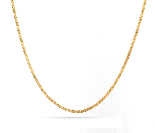 18K Gold Plated Stainless Steel Mesh Chain Necklace for Men Pendant Accessory Chain (Plated Titanium Mesh)