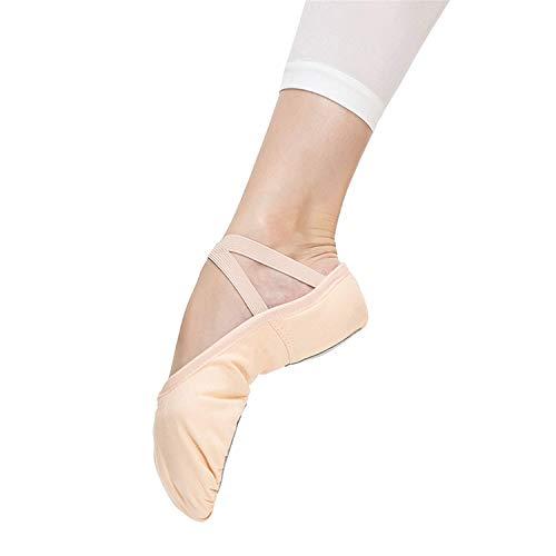 Matie Fix Girls Canvas Ballet Slipper/Ballet Shoe/Yoga Dance Shoe (US 4M Big Kid/US Women 6, Pink)