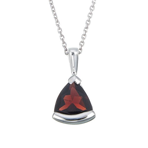 Sterling Silver Garnet Pendant (0.80 CT) With 18 Inch Chain