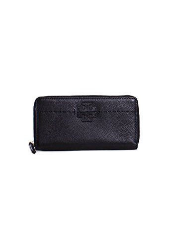 Tory Burch McGraw Continental Zip Wallet in Black ()