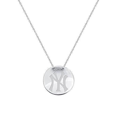 DiamondJewelryNY Silver Pendant, Mlb New York Yankees Tailored Necklace by DiamondJewelryNY