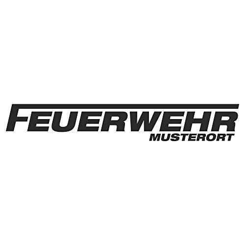 Edesign24 Feuerwehr Schriftzug Mit Wunschort Klein Autoaufkleber Autosticker Aufkleber Sticker Heckscheibe 20 X 3 Cm Weiß