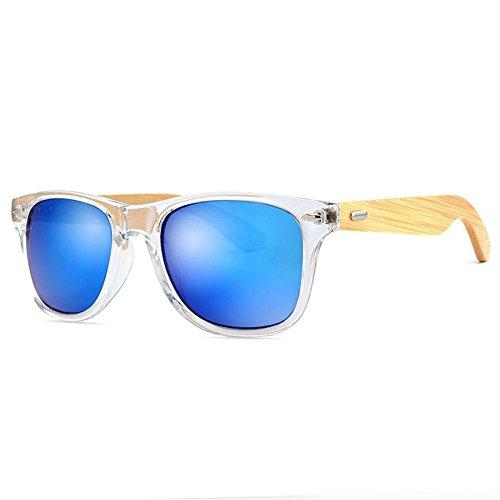 Bambú Marco para Conducción Resina de Libre Hombres Lentes de y o Mujeres Gafas Gafas la H Ultravioletas YANKAN de Aire Anti al Sol para O0Px7a