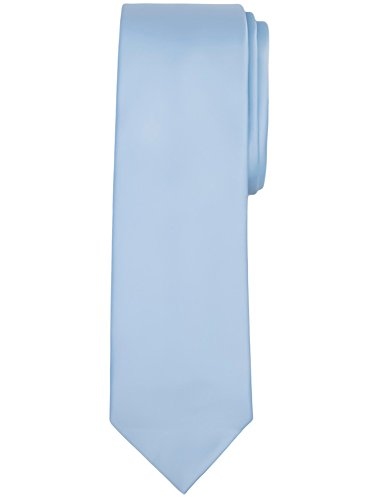 Jacob Alexander Solid Color Men's Regular Tie - Baby Blue