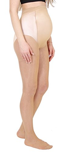 Maternity Pantyhose 20 DEN by CHEZMAM, 1264, SET OF 3 Beige