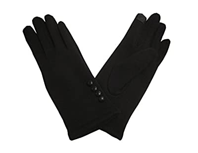Womens Winter Gloves w/ Screen Touch Texting - Warm & Lightweight - Black